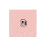 "Personalized Monogram Luncheon Napkins - Classic Light Pink - 6-3/4"" x 6-3/4"" - 50 or 100/pack"