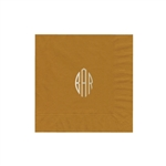 "Personalized Monogram Luncheon Napkins - Gold - 6-3/4"" x 6-3/4"" - 50 or 100/pack"