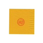 "Personalized Monogram Luncheon Napkins - Harvest Gold - 6-3/4"" x 6-3/4"" - 50 or 100/pack"