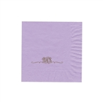 "Personalized Monogram Luncheon Napkins - Lavender - 6-3/4"" x 6-3/4"" - 50 or 100/pack"