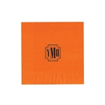 "Personalized Monogram Luncheon Napkins  - Orange - 6-3/4"" x 6-3/4"" - 50 or 100/pack"