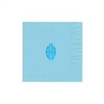 "Personalized Monogram Luncheon Napkins - Pastel Blue - 6-3/4"" x 6-3/4"" - 50 or 100/pack"