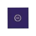 "Personalized Monogram Luncheon Napkins - Purple - 6-3/4"" x 6-3/4"" - 50 or 100/pack"