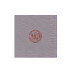 "Personalized Monogram Luncheon Napkins - Silver - 6-3/4"" x 6-3/4"" - 50 or 100/pack"