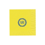 "Personalized Monogram Luncheon Napkins -Primrose Yellow - 6-3/4"" x 6-3/4"" - 50 or 100/pack"