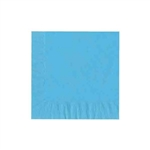 "Bermuda Blue Luncheon Napkins - 6-3/4"" x 6-3/4"" Unprinted 50 or 100/pack"