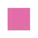 "Cotton Candy Pink Luncheon Napkins - 6-3/4"" x 6-3/4"" Unprinted 50 or 100/pack"