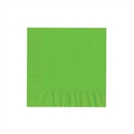 "Citrus Green Luncheon Napkins - 6-3/4"" x 6-3/4"" Unprinted 50 or 100/pack"