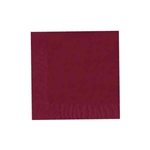 "Cranberry Luncheon Napkins - 6-3/4"" x 6-3/4"" Unprinted 50 or 100/pack"