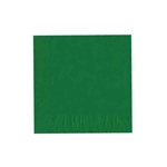 "Emerald Green Luncheon Napkins - 6-3/4"" x 6-3/4"" Unprinted 50 or 100/pack"