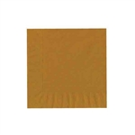 "Gold Luncheon Napkins - 6-3/4"" x 6-3/4"" Unprinted 50 or 100/pack"