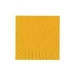 "Harvest Gold Luncheon Napkins - 6-3/4"" x 6-3/4"" Unprinted 50 or 100/pack"