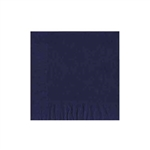 "Navy Blue Luncheon Napkins - 6-3/4"" x 6-3/4"" Unprinted 50 or 100/pack"