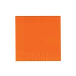 "Orange Luncheon Napkins - 6-3/4"" x 6-3/4"" Unprinted 50 or 100/pack"