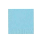 "Pastel Blue Luncheon Napkins - 6-3/4"" x 6-3/4"" Unprinted 50 or 100/pack"
