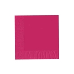 "Raspberry Luncheon Napkins - 6-3/4"" x 6-3/4"" Unprinted 50 or 100/pack"