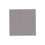 "Silver Luncheon Napkins - 6-3/4"" x 6-3/4"" Unprinted 50 or 100/pack"