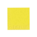 "Primrose Yellow Luncheon Napkins - 6-3/4"" x 6-3/4"" Unprinted 50 or 100/pack"