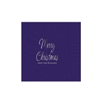 "Holiday Printed Luncheon Napkins - 6-3/4"" x 6-3/4"" Purple"