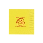 "Holiday Printed Luncheon Napkins - 6-3/4"" x 6-3/4"" Primrose Yellow"