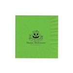 "Personalized Party Luncheon Napkins - 6-3/4"" x 6-3/4"" Citrus Green"