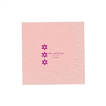 "Personalized Party Luncheon Napkins - 6-3/4"" x 6-3/4"" Classic Pink"