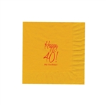 "Personalized Party Luncheon Napkins - 6-3/4"" x 6-3/4"" Harvest Gold"