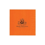 "Personalized Party Luncheon Napkins - 6-3/4"" x 6-3/4"" Orange"