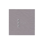 "Personalized Party Luncheon Napkins - 6-3/4"" x 6-3/4"" Silver"