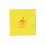 "Personalized Party Luncheon Napkins - 6-3/4"" x 6-3/4"" Primrose Yellow"