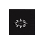 "Wedding Printed Luncheon Napkins - 6-3/4"" x 6-3/4"" Black"