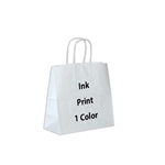 1 Color Ink-Printed Lynx White Kraft Paper Shopping Bag