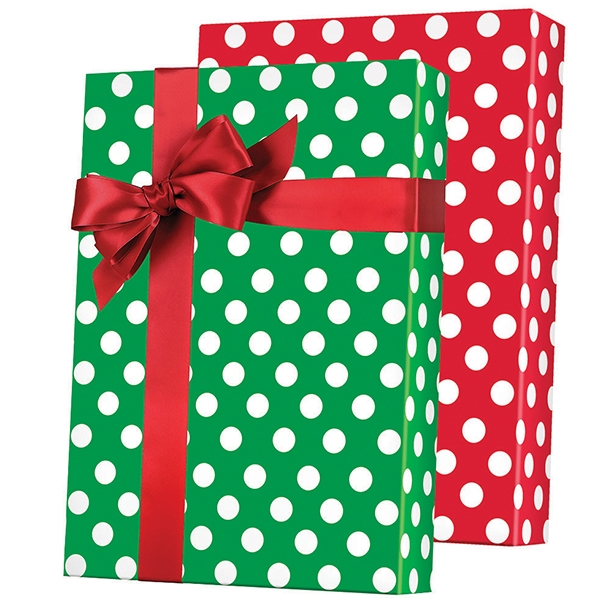 Christmas gift wrap peppermint swirl candy pattern