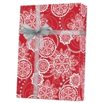 Gift Wrap Lacy Snowflakes Pattern M-5463