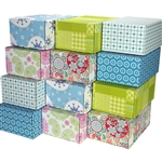 Medium Assortment Patterned Shipping Boxes - 48 Pack