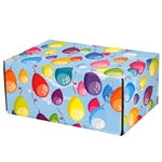 Medium Birthday Balloons Patterned Shipping Boxes - 12 Pack