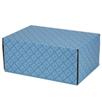 Medium French Diamond Patterned Shipping Boxes - 12 Pack