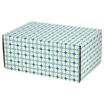 Medium Retro Patterned Shipping Boxes - 48 Pack