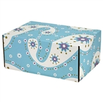 Medium Etoiles Patterned Shipping Boxes - 6 Pack