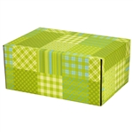 Medium Preppy Plaid Patterned Shipping Boxes - 6 Pack