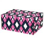 Medium Preppy Patterned Shipping Boxes - 6 Pack