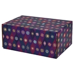 Medium Snowflake Icons Patterned Shipping Boxes - 6 Pack