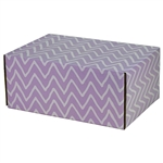 Medium Waves Lavande Patterned Shipping Boxes - 6 Pack