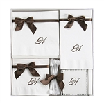 Personalized Monogram Napkin Hostess Gift Sets