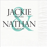 Names Monogram Wedding Beverage Napkins