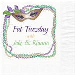 Fat Tuesday/Mardi Gras Beverage Napkins