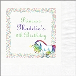 Princess Unicorn Beverage Napkins