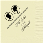 Silhouettes Design Wedding Beverage Napkins