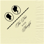 Silhouettes Design Wedding Luncheon Napkins