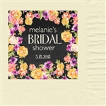 Floral Bridal Shower Luncheon Napkins